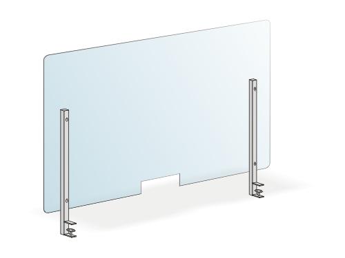 защитный экран из оргстекла со струбциной