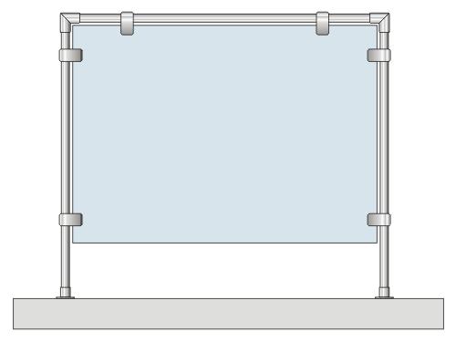 защитный экран с трубой джокер