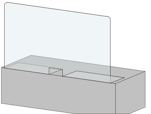 защитный экран из оргстекла на скотче